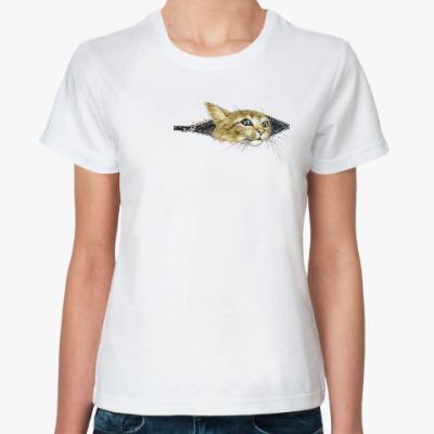 Классическая футболка Внутренний Кот