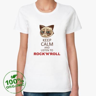 Женская футболка из органик-хлопка Угрюмый кот Тард - Grumpy Cat