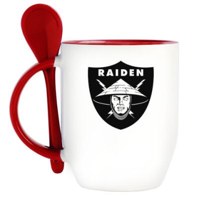 Кружка с ложкой Raiden Raiders