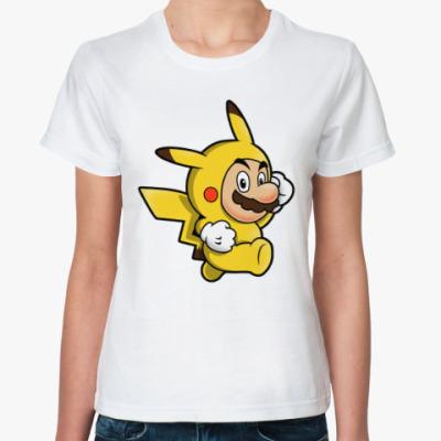 Классическая футболка Марио Пикачу