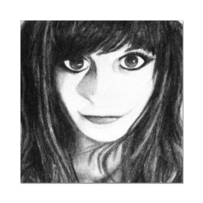 Наклейка (стикер)  Girl with Big Eyes
