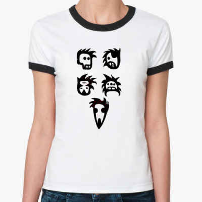 Женская футболка Ringer-T  Жен. Монстры