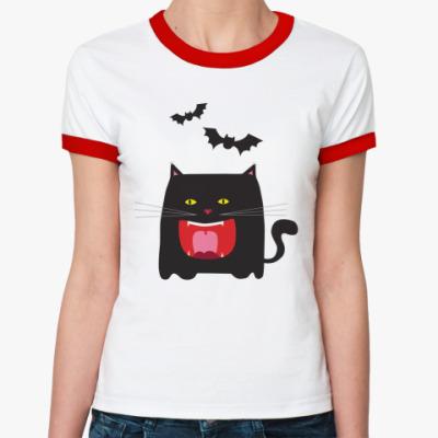 Женская футболка Ringer-T Котя
