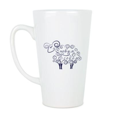 Чашка Латте Новогодний баран