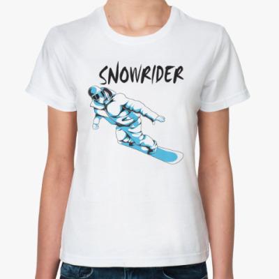 Классическая футболка Snowrider