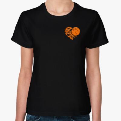 Женская футболка Баскетбол в серце