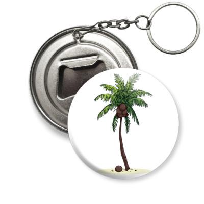 Брелок-открывашка Кокосовая пальма