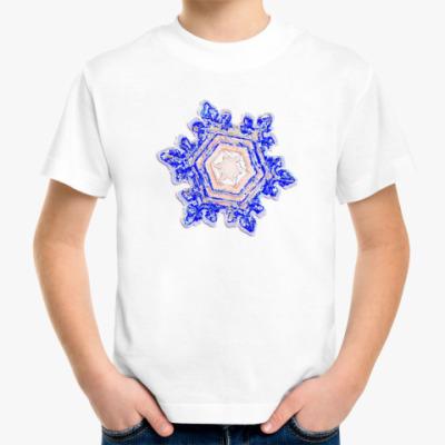 Детская футболка `Волшебная снежинка`Детск.фт