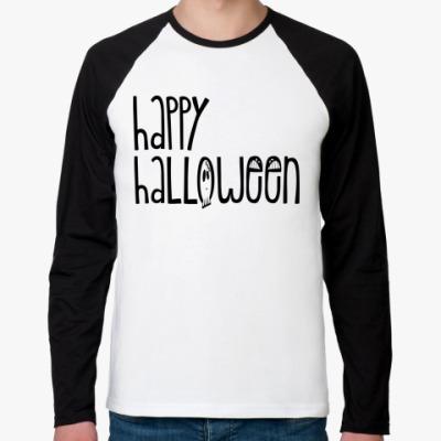Футболка реглан с длинным рукавом Хэллоуин