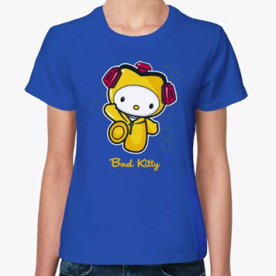 Женская футболка Bad Kitty