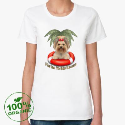 Женская футболка из органик-хлопка Йоркширские терьеры