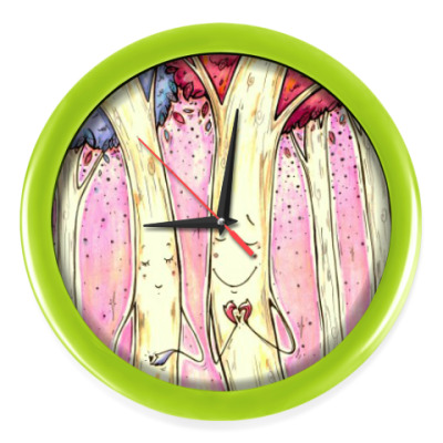 Настенные часы Деревья