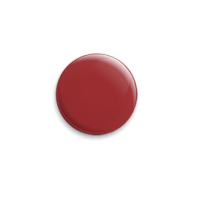 Значок 25мм Просто бордовый