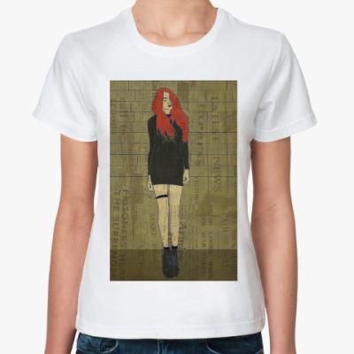 Классическая футболка девушка-панк