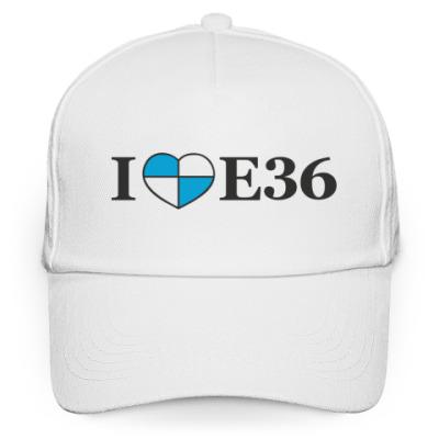 Кепка бейсболка I love E36