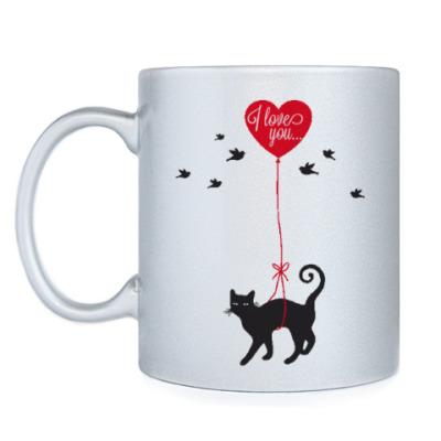 Кружка Кот и сердце