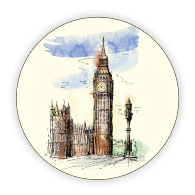 Костер (подставка под кружку) Биг-Бен -Big Ben-Англия-Лондон