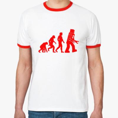 Футболка Ringer-T  'Robot Evolution'
