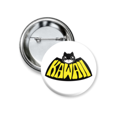 Значок 37мм Kawaii Batman