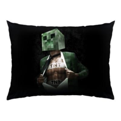 Подушка Minecraft creeper