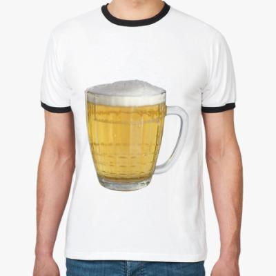 Футболка Ringer-T пиво