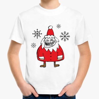 Детская футболка Trollface Santa