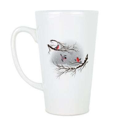 Чашка Латте Снегири
