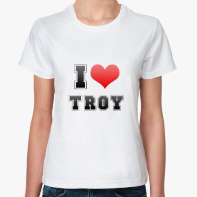 Классическая футболка I love Troy