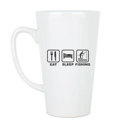 Чашка Латте Еда Сон Рыбалка