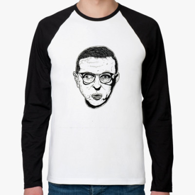 Футболка реглан с длинным рукавом Жан-Поль Сартр