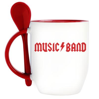 Кружка с ложкой Music Band