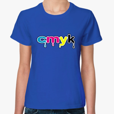 Женская футболка CMYK