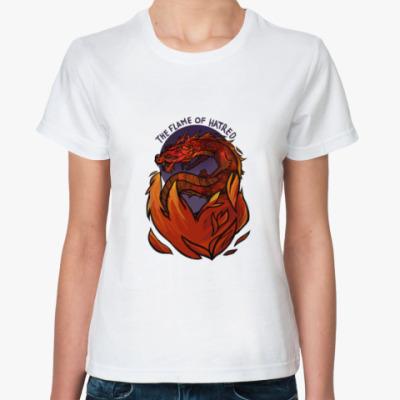 Классическая футболка 'Пламя ненависти'