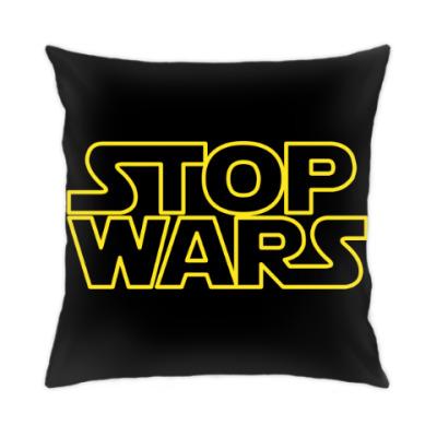 Подушка Stop Wars Logo,Звёздные Войны,Star Wars