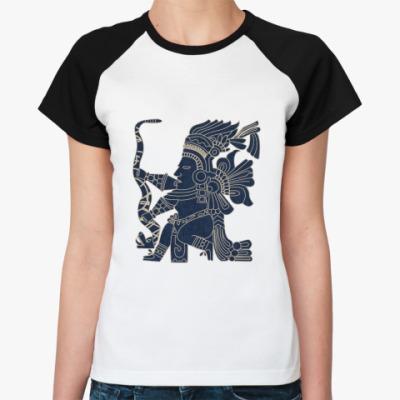 Женская футболка реглан   Индеец