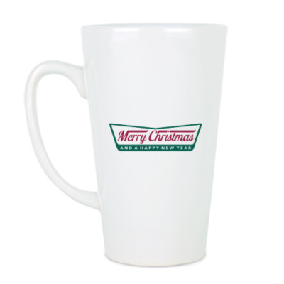 Чашка Латте Счастливого Нового года