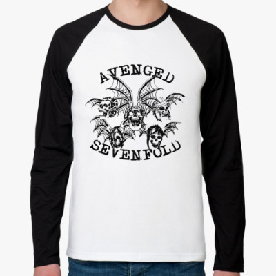 Футболка реглан с длинным рукавом Avenged Sevenfold's Deathbat