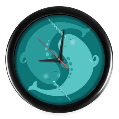 Настенные часы Animal Zen: N is for Narwal