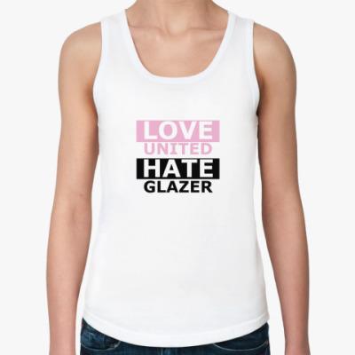 Женская майка LOVE Hate MU