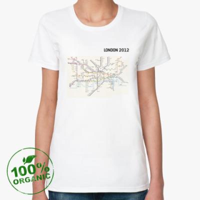 Женская футболка из органик-хлопка LONDON 2012