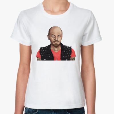Классическая футболка Ленин хиппи