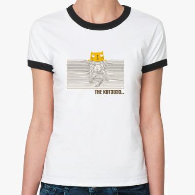 Женская футболка Ringer-T  ' The Котэ'