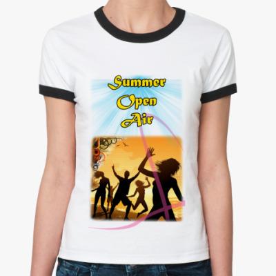 Женская футболка Ringer-T  'SOA'