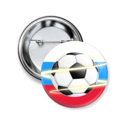 Значок 50мм Футбольный вихрь