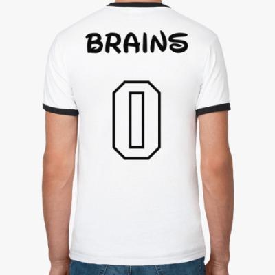 Футболка Ringer-T Zero Brains