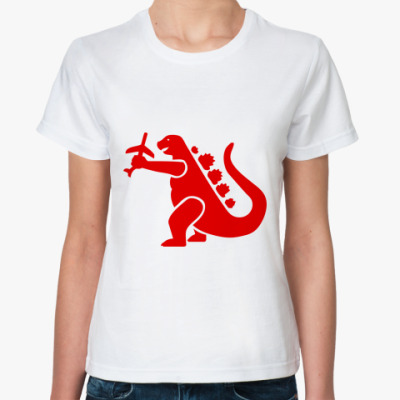Классическая футболка Дракон Годзи