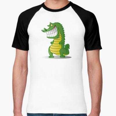 Футболка реглан Злобный крокодил