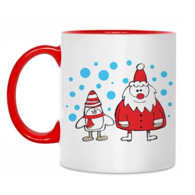 Кружка Дед Мороз и Пингвин