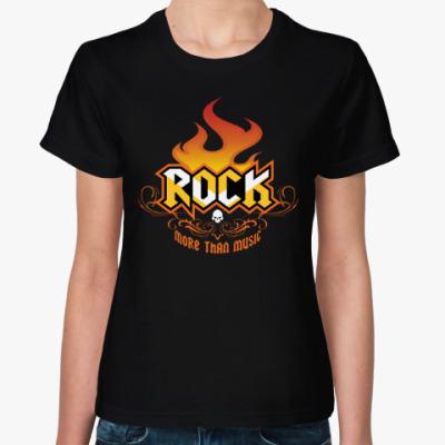 Женская футболка ROCK • Больше, чем музыка!