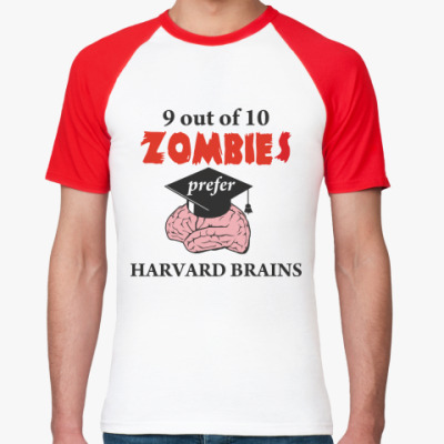 Футболка реглан Harvard brains